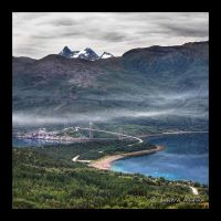 Norway, view over Narvik by Behindmyblueeyes