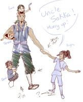 Uncle Sokka WIP by RanaTilion