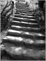 The stairway to BW by Iuliaq