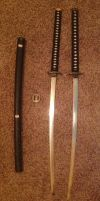 My two katana blades by DrCrazyWolf