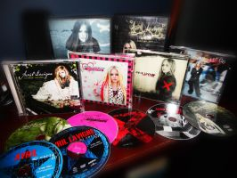 My Avril Lavigne Cds by abbeydamn