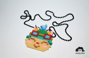 8bit League of Legends necklace of Teemo by zestyden