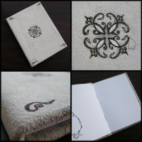 Ornamentbook - handmade scrapbook by Dark-Lioncourt