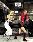 Resident Evil 2 Claire and Beverly with dialogue by vassilizaitzev