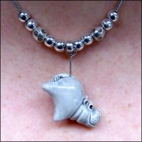 Hanging Hippo Pendant by Hippopottermiss