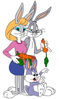 Bugs Bunny's family by Ivellios1988