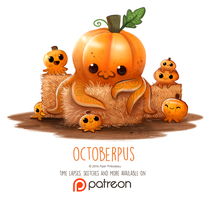 Day 1414. Octoberpus by Cryptid-Creations
