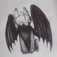 Toothless by Astronomieart