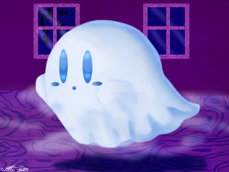 Ghost Kirby by Lilsnookie