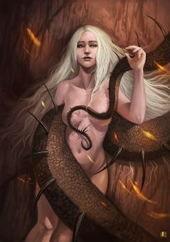 Mother of dragons by Coliandre