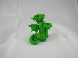 Green Swirly Dragon by RaLaJessR