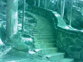 Photograph of Stairs at Old Man's Cave by AudraMBlackburnsArt