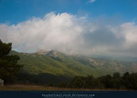 Mountain Range with Clouds by kuschelirmel-stock