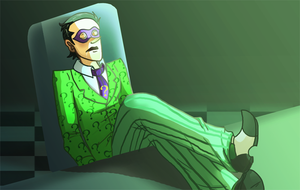 Riddler awaits by pink-ninja