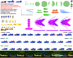 SaASRT: Sonic's Vehicle Sprite Sheet by Nikko62