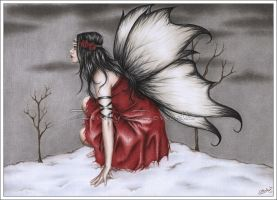 Red Winter Fairy by Zindy