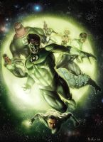 Green Lantern Corps by boscopenciller