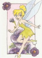 Tinkerbell card by AmberStoneArt