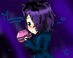 Garry and his macaron by BoomBangDraws