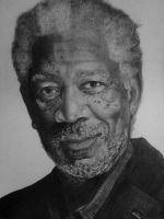 Morgan Freeman by xjorieke
