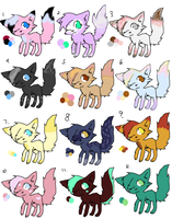 Cute Cat Adoptables by Cartoonfangirl4