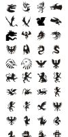 Fantastic creatures vector set by hugoo13