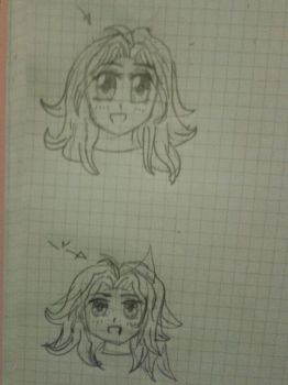 draw the same manga girl (one after another) by popcorn-baka