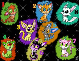 Alien Cat Adoptables -Closed- by Electric-Mongoose