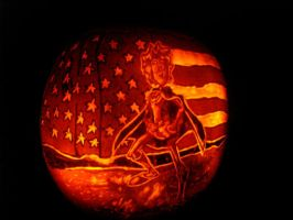 Greatest American Hero Pumpkin by rjclrutter