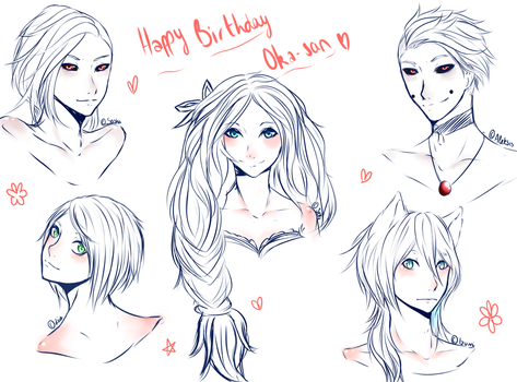 HeadSketch : Happy Birthday Chu-chan by MllxYume
