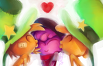 Double kisses by Nocty-Nocturnus