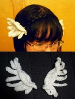 Crochet--Wing Clips by MiraMonochrome