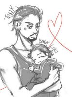 Tony and Baby Loki by joker4msy