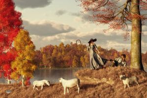 Autumn Pastoral by deskridge