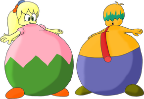 Tiff and Tuff bloated by JuacoProductionsArts