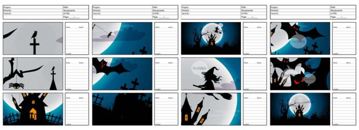 Story board - witch by oranGGraphic