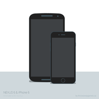 Nexus 6 and iPhone 6 minimal vector by walcor