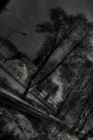 House on the road HDR by Djmanulx