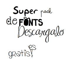 Pack de fonts by xDaniela