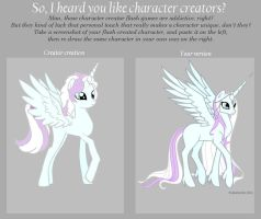MLP OC Crystal Renaissance pony creator vs. me by snakehands
