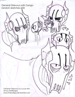Grievous with his Dango sketch by theREDspy