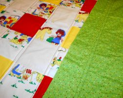 Raggedy Ann and Andy baby quilt WIP 3 by ChaosFay