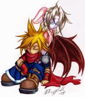 cloud and aerith by sageEmerald