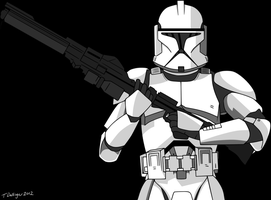 Clone Trooper Vector Color by timdallinger