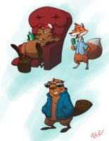 Beaver and friends 1 by ArtistAbe