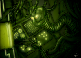 Artificial Insanity -green- by HellLemur