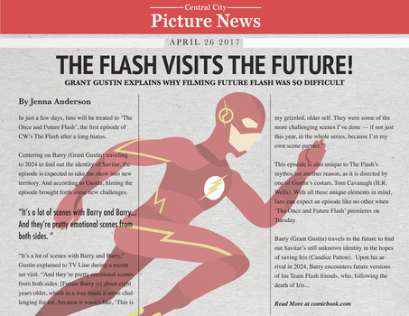 Flash Visits The Future by Moy-El