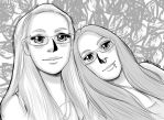 Lady Metal and Daughter's Anime Portrait by OtakuEC