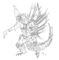 Trendmasters Gigan remake OLD by XxHXCLIONxX