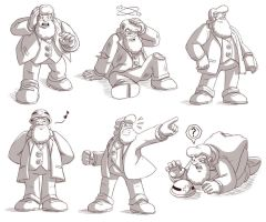 Dr. Light sketches by glitcher